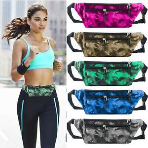 Womens Mens Gym Fitness Sport Runner Waist Bum Bag Running Belt Fanny Pack Pouch