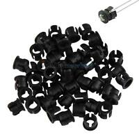 Practical 50pcs 5mm ABS Plastic Black LED Clip Holder Display Panel Bezel Mounts