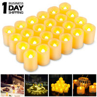 24 PCS Flameless Votive Candles Battery Operated Flickering LED Tea Light Holder