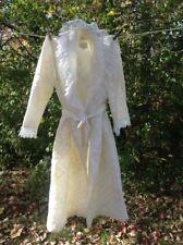 Vintage Barbizon Lounge Wear White Floral Chiffon Lace Robe Size Small