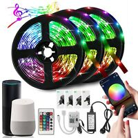 15M Smart LED Strip Lights WIFI Alexa RGB Flexible with Remote Color Changing US