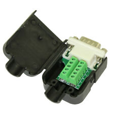 Serial Port DB9 Male RS232 Connector to Terminal Board Module w/Hood