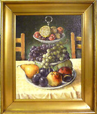 UNINDENTIFIED ARTIST! STILL LIFE COMPOSITION WITH FRUIT. NO RESERVE