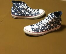 Converse Hi Top All Stars Blue White Size 13 Mens Good Shape Free Shipping