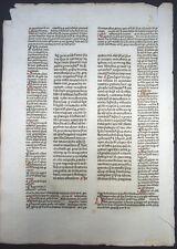 INKUNABELBLATT LIBER DECRETALIUM BONIFATIUS VIII. BASEL WENSSLER SCHOLIEN 1476