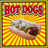 Hot Dogs DECAL (Choose Your Size) S Concession Food Truck Vinyl Sign Sticker