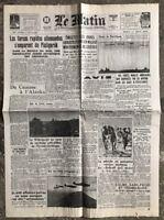 N11 La Une Du Journal Le Matin 11 Août 1942