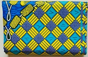 African PolyCotton Print Ankara Fabric Wax Latest Pattern Crafts Quilting 1 Yard