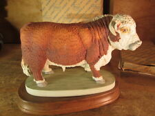 Vintage Porcelain Herford Bull By Andrea By Sadek Made in Japan with stand + box