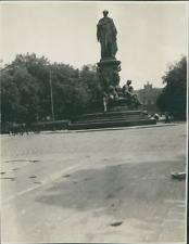 Allemagne, Munich, Monument du Roi Max II  Vintage silver print. Vintage Germany