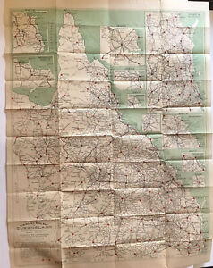 Vintage Robinsons Road Map Queensland Australia 5th edition LARGE 31x39 Inch