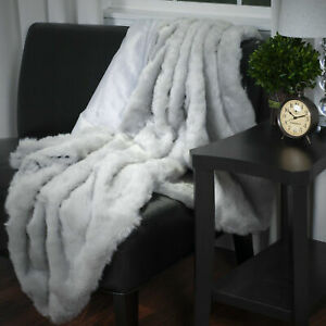 Faux Fur Throw Blanket by Lavish Home