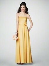 ALFRED ANGELO 7192 MAIZE YELLOW SZ 10 BRIDESMAID PROM FORMAL CHIFFON-SATIN DRESS