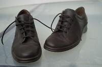 Salamander Damen Schuhe Schnürschuhe Leder braun Einlagen Gr.4,5 G 37,5 NEU #11