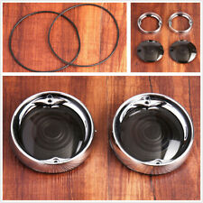 Deep Dish Turn Signal Bezels & Smoke Lens For Harley Road King Road Glide w/Bolt