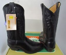 HY TEST Steel Toe Work Boots Black Leather  Safety Shoes 8.5 EE