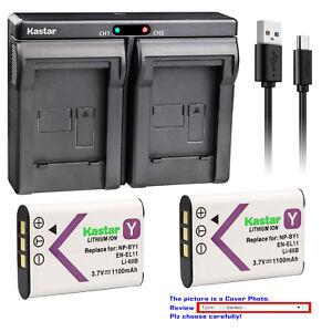 Kastar EN-EL11 Battery Charger for Nikon Coolpix S550 Nikon Coolpix S560 ENEL11