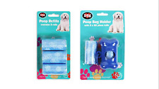 Blue Poo bag dispenser Walking Safe Strong and Durable easily Clean up Refills S