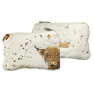 Bree Merryn Highland Cow Organic Cotton Coin & Notes Zip Purse 16x11x2cm