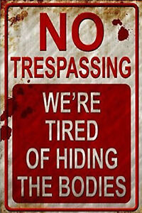 NO TRESPASSING Vintage Tin Metal Signs Pub Bar Decor Art Wall Warning Poster