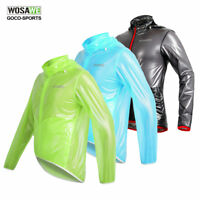 Cycling Jerseys Bicycle Bike Jacket Sport Riding Rain Long Sleeve Wind Coat Mens