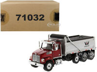 WESTERN STAR 4700 SF DUMP TRUCK RED/SILVER 1/50 MODEL BY DIECAST MASTERS 71032