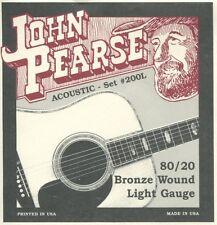 John Pearse 200L 80/20 Bronze Light Strings (3 sets)