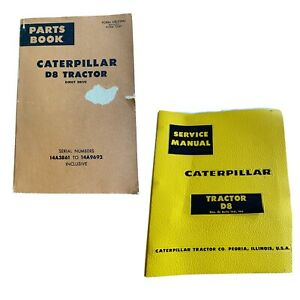 CAT Caterpillar D8 SERVICE SHOP REPAIR MANUAL + PARTS BOOK