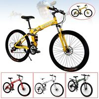 "Mountain Bike Full Suspension Shimano  27.5"" 21 Speed Mens Bikes MTB Bicycle US"