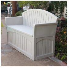 Patio Storage Bench Ultimate 50 Gallon Resin Outdoor Furniture Garden  Backyard