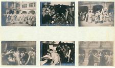France, Scènes de la vie étudiante  Vintage silver print. Collage de 6 photos de