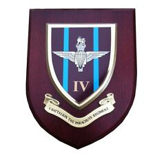 4 th Parachute Regiment Military Shield Wall Plaque