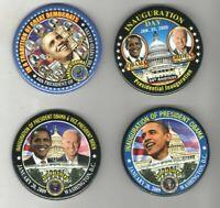 Barack OBAMA 4 pin 2009 Inauguration pinback #3 Joe BIDEN