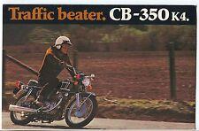 Original Honda 1972 Motorcycle Color Sales Literature Super Sport 350 CB-350 K4