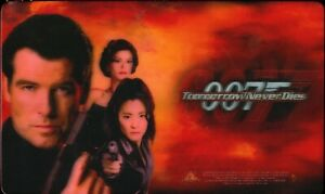 VINTAGE 1997 TOMORROW NEVER DIES 007 PROMOTIONAL 3D LINTICULAR MOUSE PAD NEW