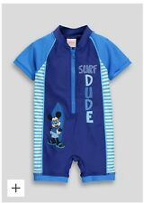 BOYS SUN SWIM SUIT UV40 SUNSAFE 3-4 YEARS SURFSUIT MICKEY MOUSE NEW BNWT