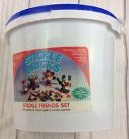 Vintage Retro Stickle Bricks Stickle Friends Retro Building Toy Hasbro Bucket