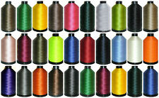 STRONG BONDED NYLON THREAD 40'S, 3000 MTRS, UPHOLSTERY ASSORTED COLS, X2 CONES