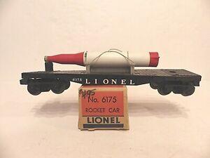 LIONEL  POSTWAR #6175 ROCKET CAR -- WITH THE ORIGINAL BOX -- UNRUN!