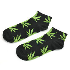 Harajuku Printed Marijuana Weed Leaf Crew Plant Life Cotton High Sock Ankle