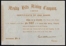 Mining Share Certificates & Bonds
