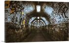 ARTCANVAS Brick Subway Tunnel Graffiti Canvas Art Print