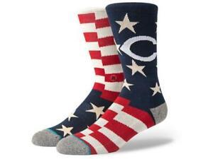 Stance Men's MLB Cincinnati Brigade Reds Memorial Day Crew Socks Sz L 9-12 NWT