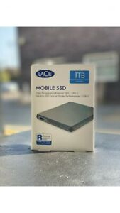 LaCie 1TB Mobile SSD High‑Performance External SSD USB-C USB 3.0 Sealed Box