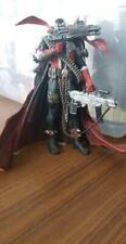 "Spawn, 3 guns, chains, cape, grenades, standing figurine, RARE! 7"" Figure (B7)"