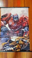 "TRANSFORMERS ""WFC OPTIMUS PRIME & BUMBLEBEE"" 60cm X 90cm ANIME CLOTH WALL SCROLL"