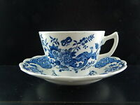 VINTAGE TAZZA E PIATTO TÈ PORCELLANA RIDGWAY 1792 STAFFORDSHIRE WINDSOR