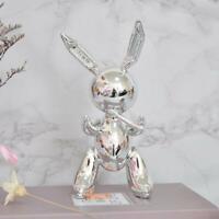 Jeff Koons Silver Rabbit Cute Animals Resin Sculpture Wedding Decor Balloon