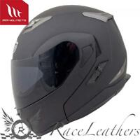 MT Flux Tapa frontal DESLIZABLE Modular Moto Casco color negro mate