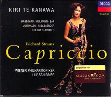 STRAUSS: CAPRICCIO Kiri Te Kanawa Brigitte Fassbaender Olaf Bär ULF SCHIRMER 2CD